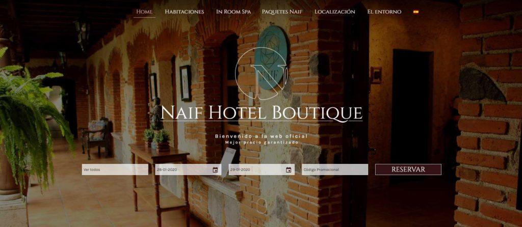 Ejemplo diseño web - Naif Hotel Boutique