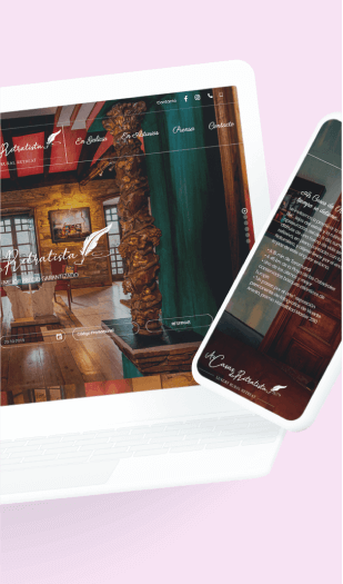 Ejemplo diseño web para hoteles - As casas do retratista