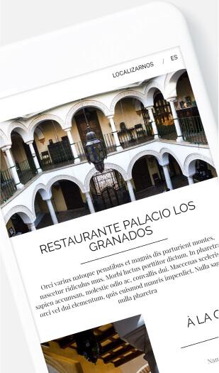 Ejemplo diseño web para hoteles - Hotel Granados