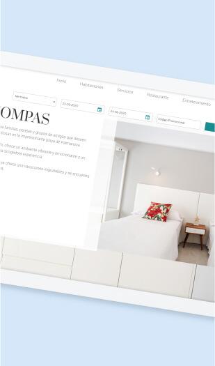 Ejemplo diseño web para hoteles - Inner Kompas