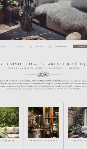 Ejemplo diseño web hotel