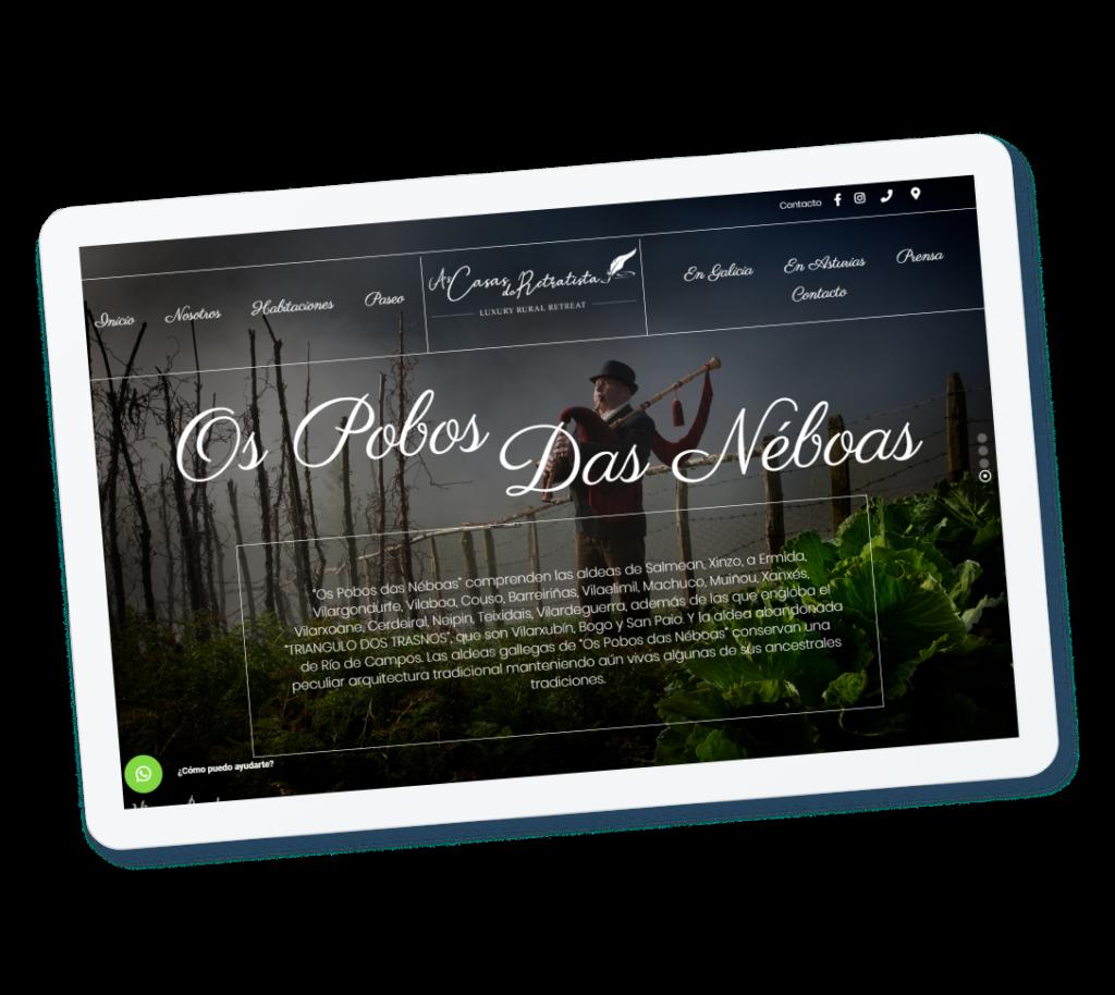 Ejemplo página web para hoteles - As casas do retratista