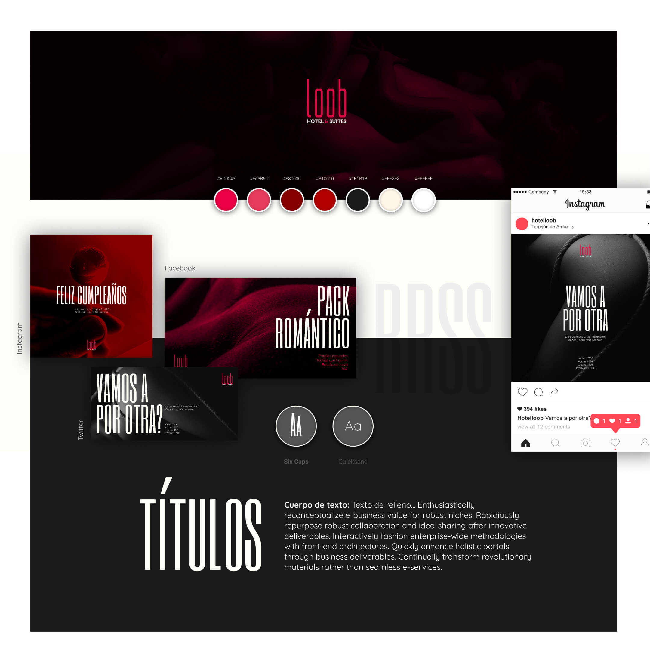 Ejemplo diseño web para hoteles - Hotel Loob